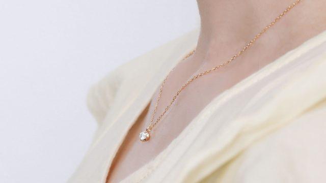 0.1ct ダイヤモンド ネックレス 一粒