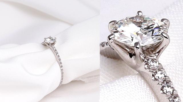 プラチナ 婚約指輪 一粒 0.3ct